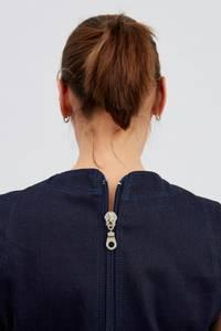 Bilde av One-piece med lange ben i bomull/polyester denim