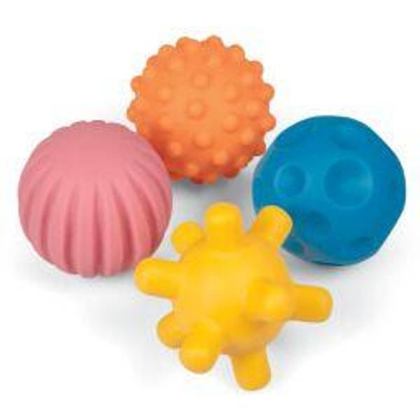 Sensoriske baller med ulike struktur