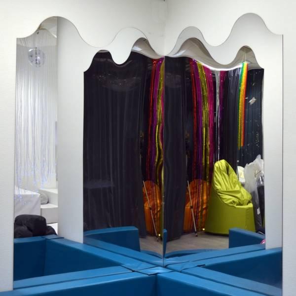 Speil bølge akryl 100x135cm